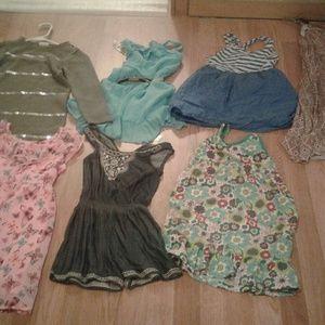 Lot of seven dresses